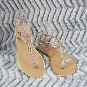 385 Fifth. Pink & Gold Shimmer Flat Sandal